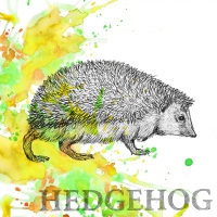 Servietten 33x33 cm - Autumn Hedgehog