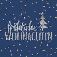 Lunch Servietten Weihnachten dark blue