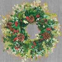Lunch Servietten Yuletide Wreath Wood