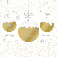 Servietten 33x33 cm - A Very Merry Christmas gold
