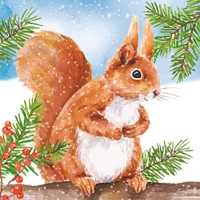 Servietten 33x33 cm - Hey Squirrel