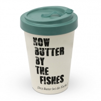 Bamboo mug To-Go - Butter by the fishes