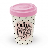 Bamboo mug To-Go - Queen of Chaos