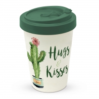 Bamboo mug To-Go - Hugs & Kisses