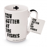 Porzellan-Tasse - Butter by the fishes