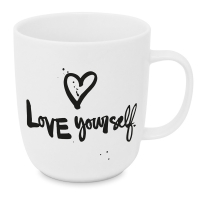 Porzellan-Tasse - Love yourself 2.0