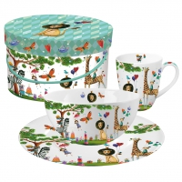 Breakfast Set - Animals Garden