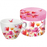 Porzellan-Tasse Aquarell Poppies