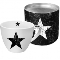 +*)Porzellan-Tasse Star Fashion