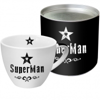 Porzellan-Tasse - SuperMan black