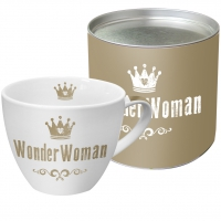 Porzellan-Tasse - WonderWoman real gold