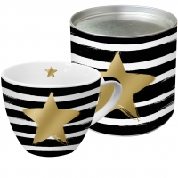 +*)Porzellan-Tasse Star & Stripes