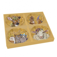 Porzellan Platten-Set - Woodsy & Wise Plate Set of 4