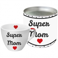 Porzellan-Tasse Super Mom