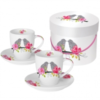 Espresso Cups - Love Birds