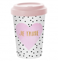 Bambusbecher To-Go - Je t´aime