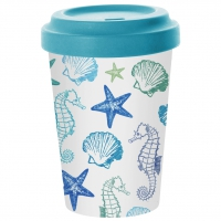 Bambusbecher To-Go - Aquarell am Meer