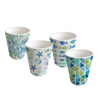 Bamboo Mug - Bamboo Tumbler Aquarell Beach Set of 4