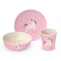 Bamboo Kids Set - Bamboo Childrens Set Pink Unicorn