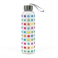 Glasflasche - Aquarell Dots