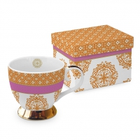 +*)Classic Tasse - Classic GB Madaket orange rosa echt Gold