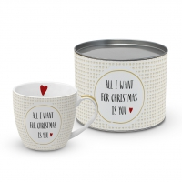 Porzellan-Tasse - Want for Christmas