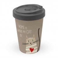 *)Becher aus Bambus Home Cat
