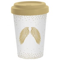 *)Becher aus Bambus Holy Wings