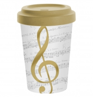 *)Becher aus Bambus I Love Music