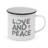 Metal Cup - Love & Peace