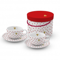 Cappuccino Cups - Little Hearts real gold