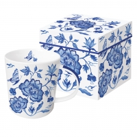 Porcelain cup with handle - Princess Peony