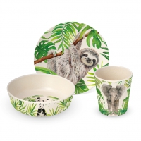Bambus Kinder Set - Bambus Kinder Set Tropical