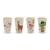 Bamboo Mug - Pink Unicorn & Friends