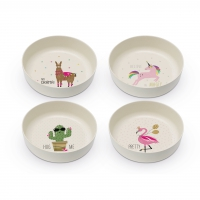 Bamboo Bowls - Pink Unicorn & Friends