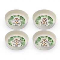 Bambus Schalen - Tropical BBQ Set of 4