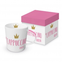 Porcelain cup with handle - Cappuccino Queen