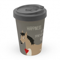 Bamboo mug To-Go - Happiness & Horses