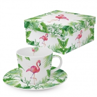 Tee-Tassen - Tropical Flamingo