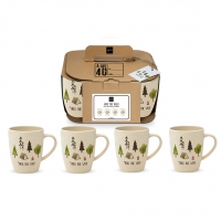 Bambus Becher - Set 4 Into the wild Bamboo