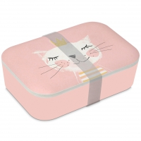 Bamboo Lunchbox - Happy Cat