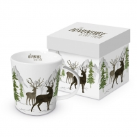 Porzellan-Henkelbecher - Adventure Deer white Trend GB