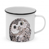 Metal Cup - Owl Happy Metal Mug