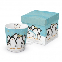 Porzellan-Henkelbecher - Penguin Family Trend GB