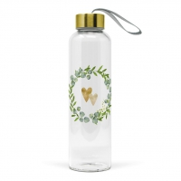 Glasflasche - Two Hearts Bottle