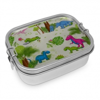 Edelstahl Brotdose - Dinos Steel Lunch Box