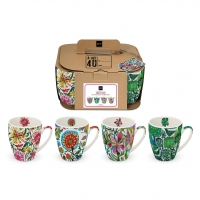 Porzellan-Henkelbecher - Cuzco & Co. 4 Mug Set