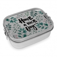 Edelstahl Brotdose - Have a nice day Steel Lunch Box