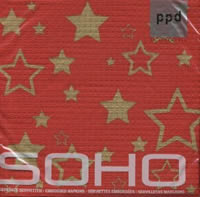 Lunch Servietten SoHo Starlight red/gold