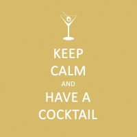 Servietten 25x25 cm - Keep Calm... Cocktail